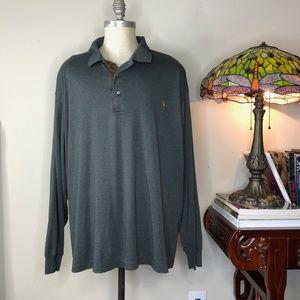 Polo by Ralph Lauren Shirts - Polo Long Sleeve Men's Colored Pony 4XB 4XL XXXXL